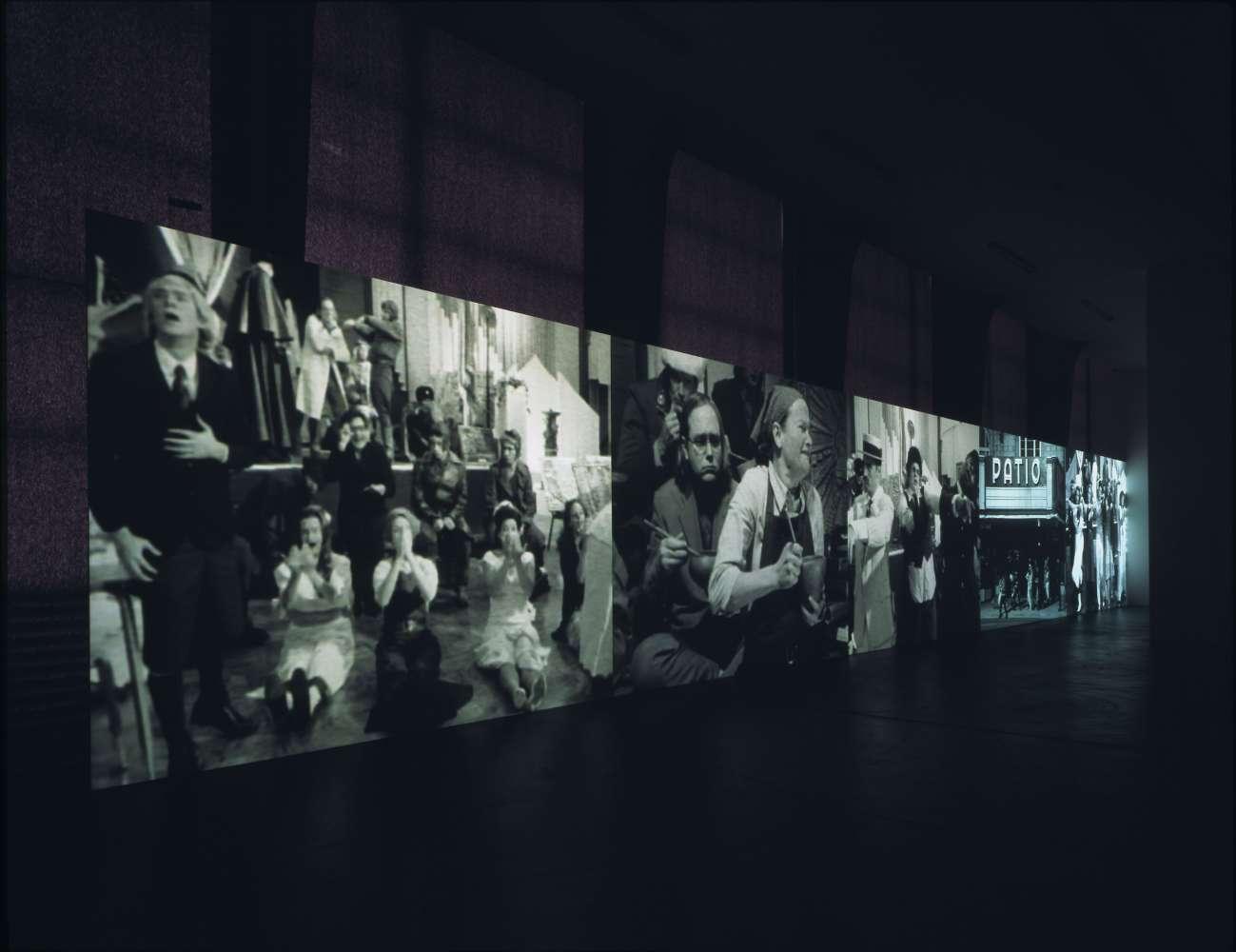 installation view, Catherine Sullivan, Kunsthalle Zürich, 2005. © Stefan Altenburger Photography