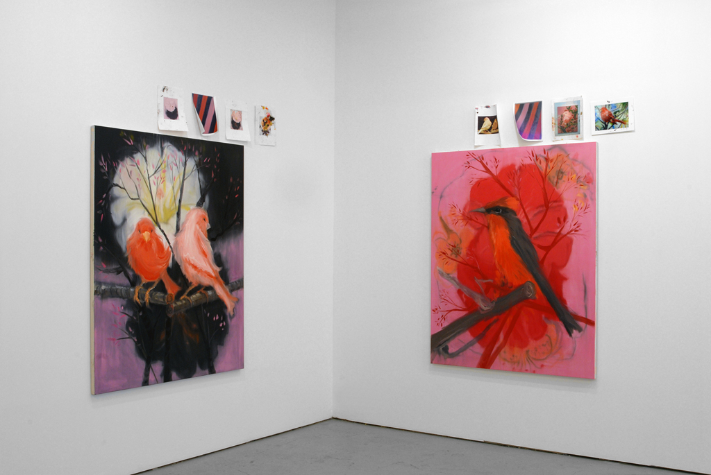Ann Craven, Catherine Bastide gallery, Brussels, exhibition view, 2006