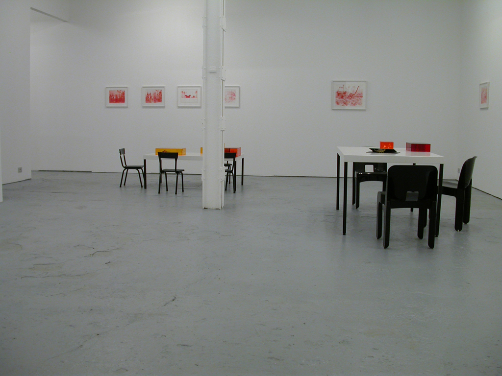 Jean-Pascal Flavien, Catherine Bastide gallery, Brussels, exhibition view, 2006