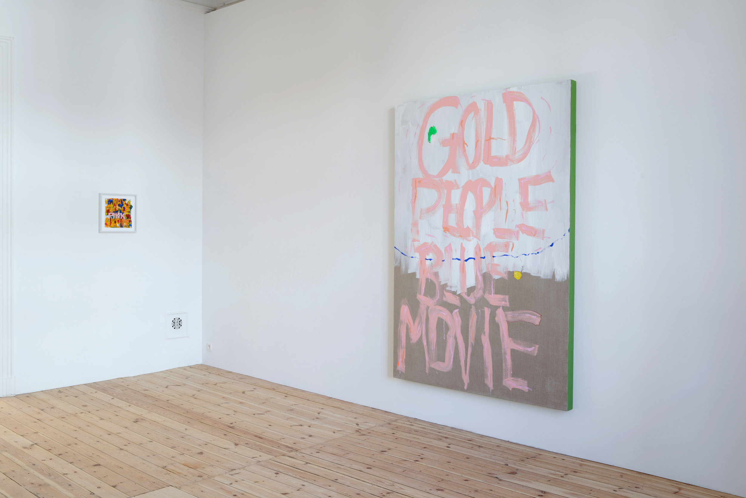 Gold People Shit In Their Valet,  Catherine Bastide gallery, Brussels, 2014, installation view. Photo: Isabelle Arthuis.