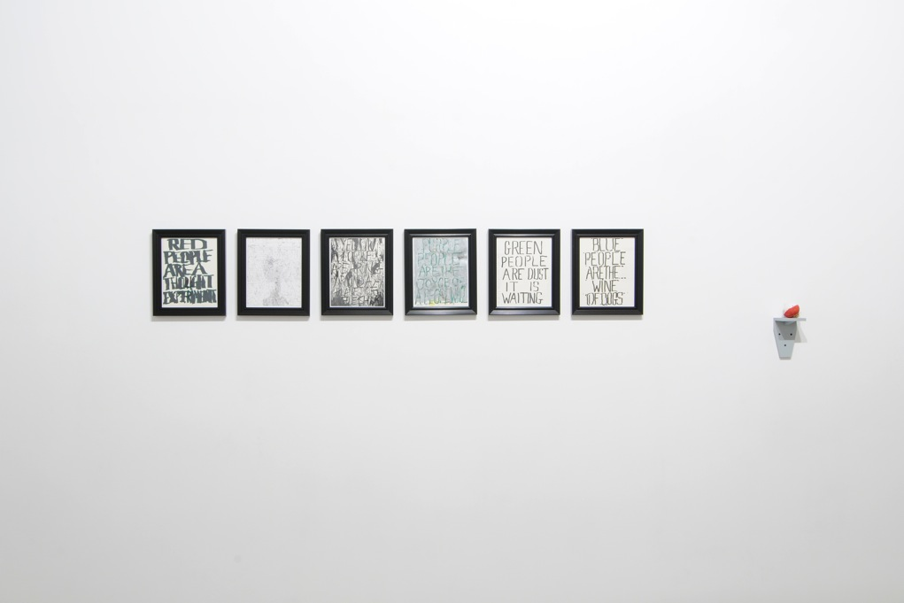 Three Projects , Catherine Bastide gallery, Brussels, 2012, installation view