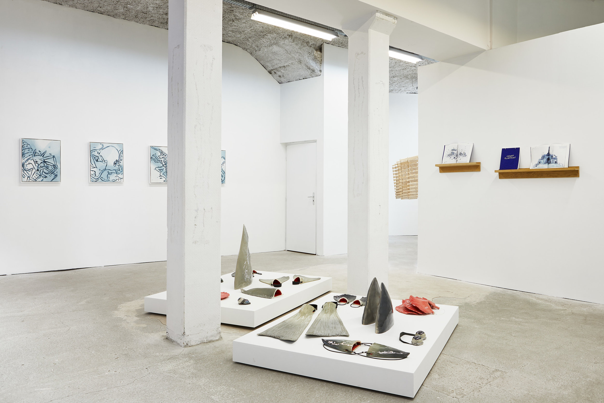 Elsa Guillaume & Forlane 6 Studio,  Amphibie , Bastide Projects, Marseille, exhibition view, 2019
