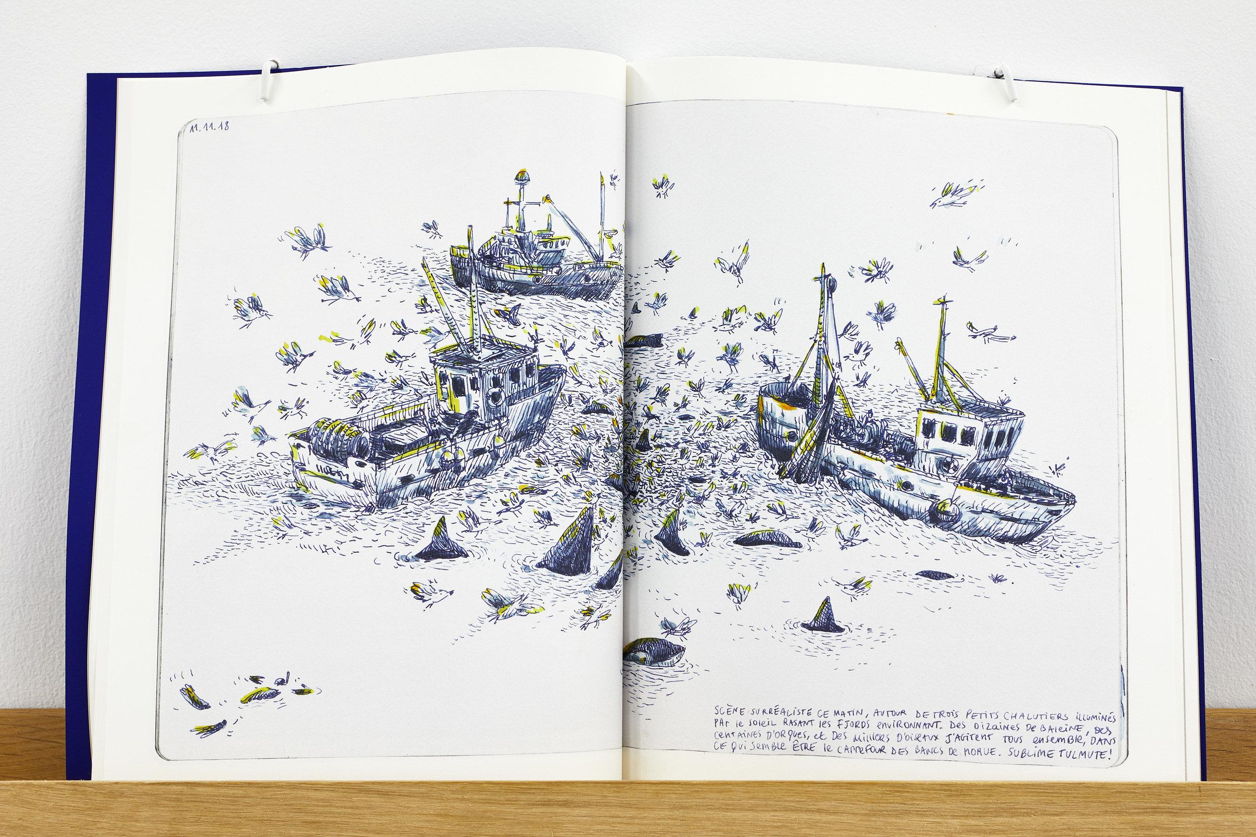ELSA GUILLAUME, CARNET POLARFRONT - NEW YORK, 2019, impression numérique, couverture découpe lazer, 21,7 x 28,5 cm, 120 pages