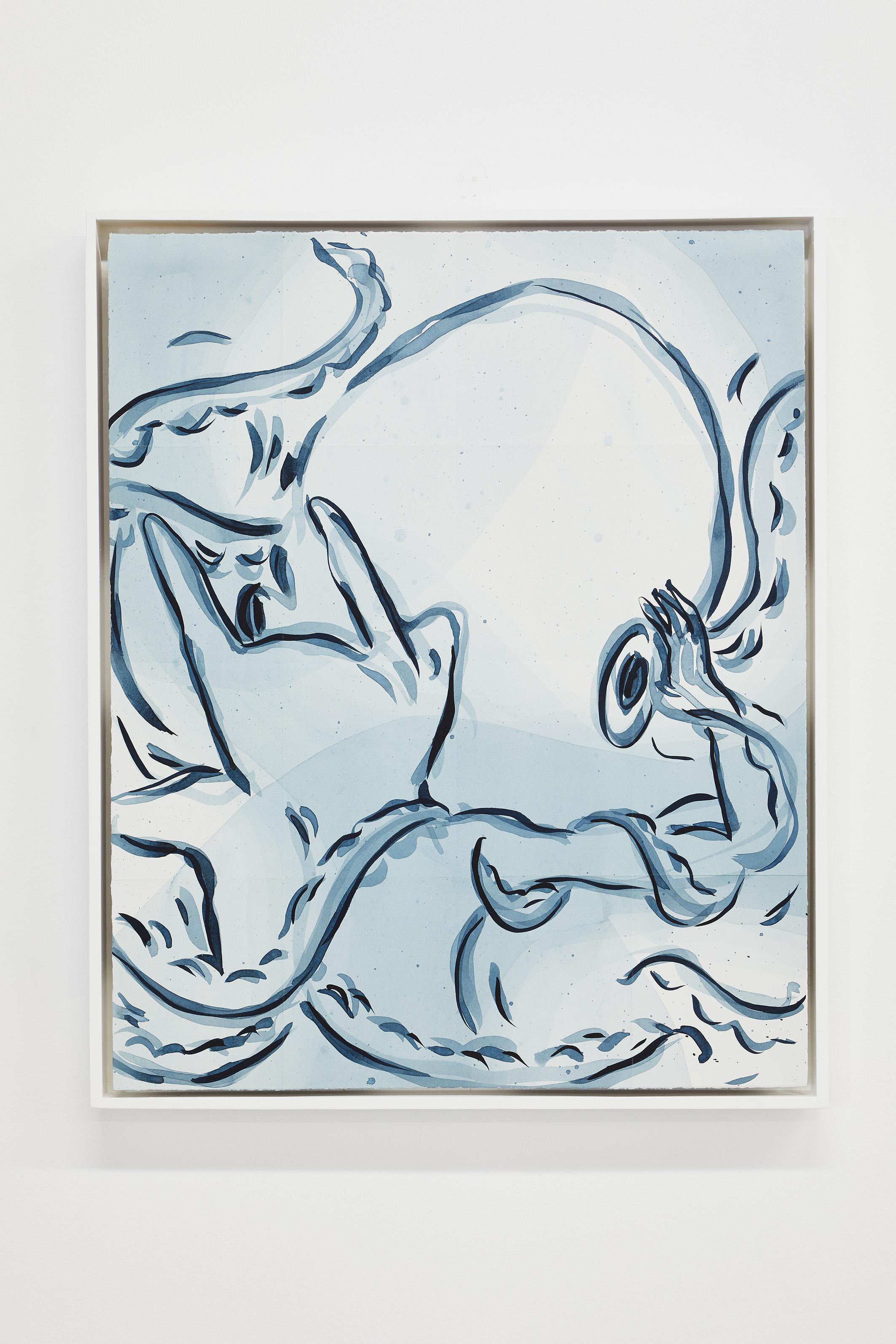 ELSA GUILLAUME, Topographie N°7, encre super papier Arches satiné 300g, 61 x 50 cm