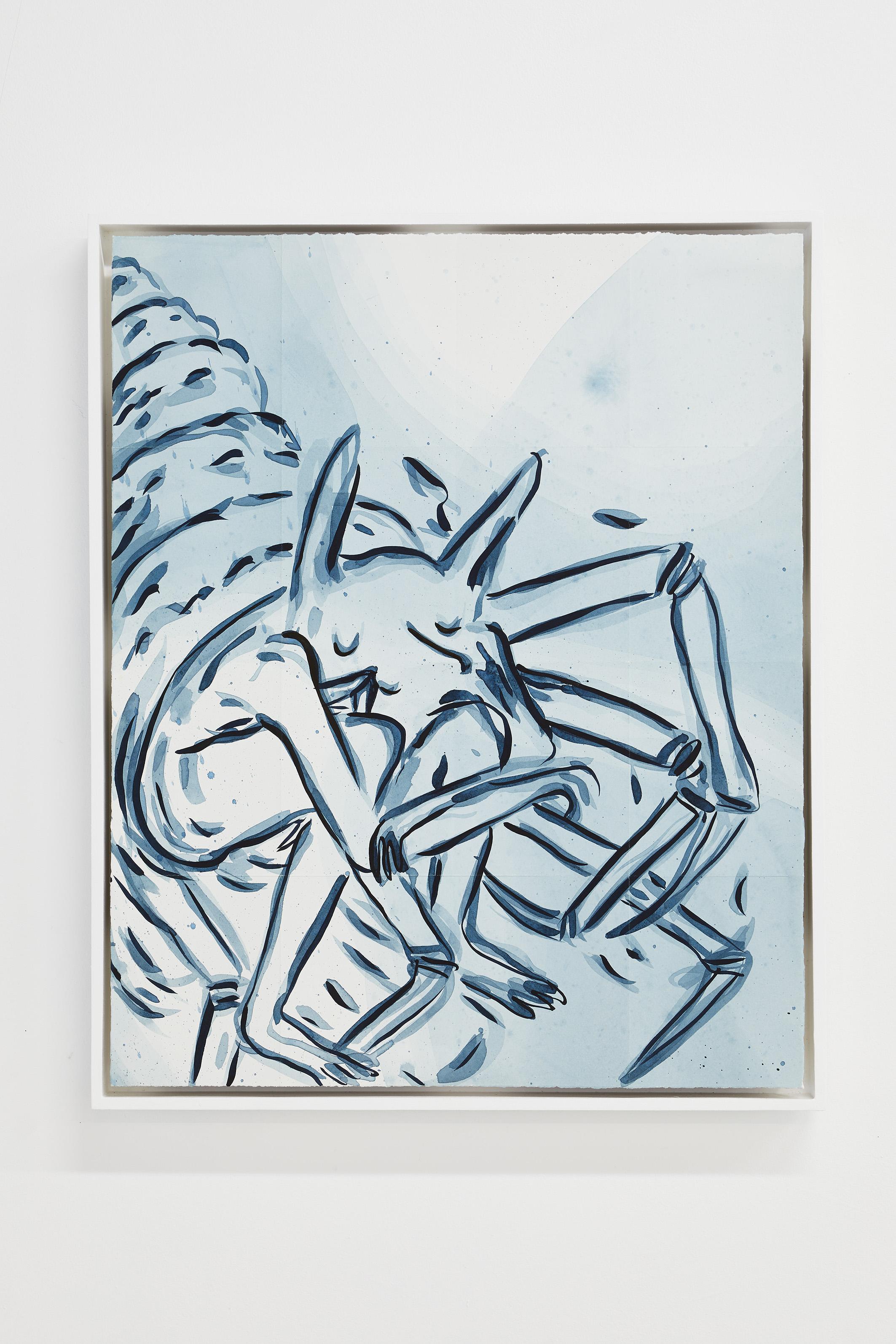 ELSA GUILLAUME, Topographie N°5, encre super papier Arches satiné 300g, 61 x 50 cm