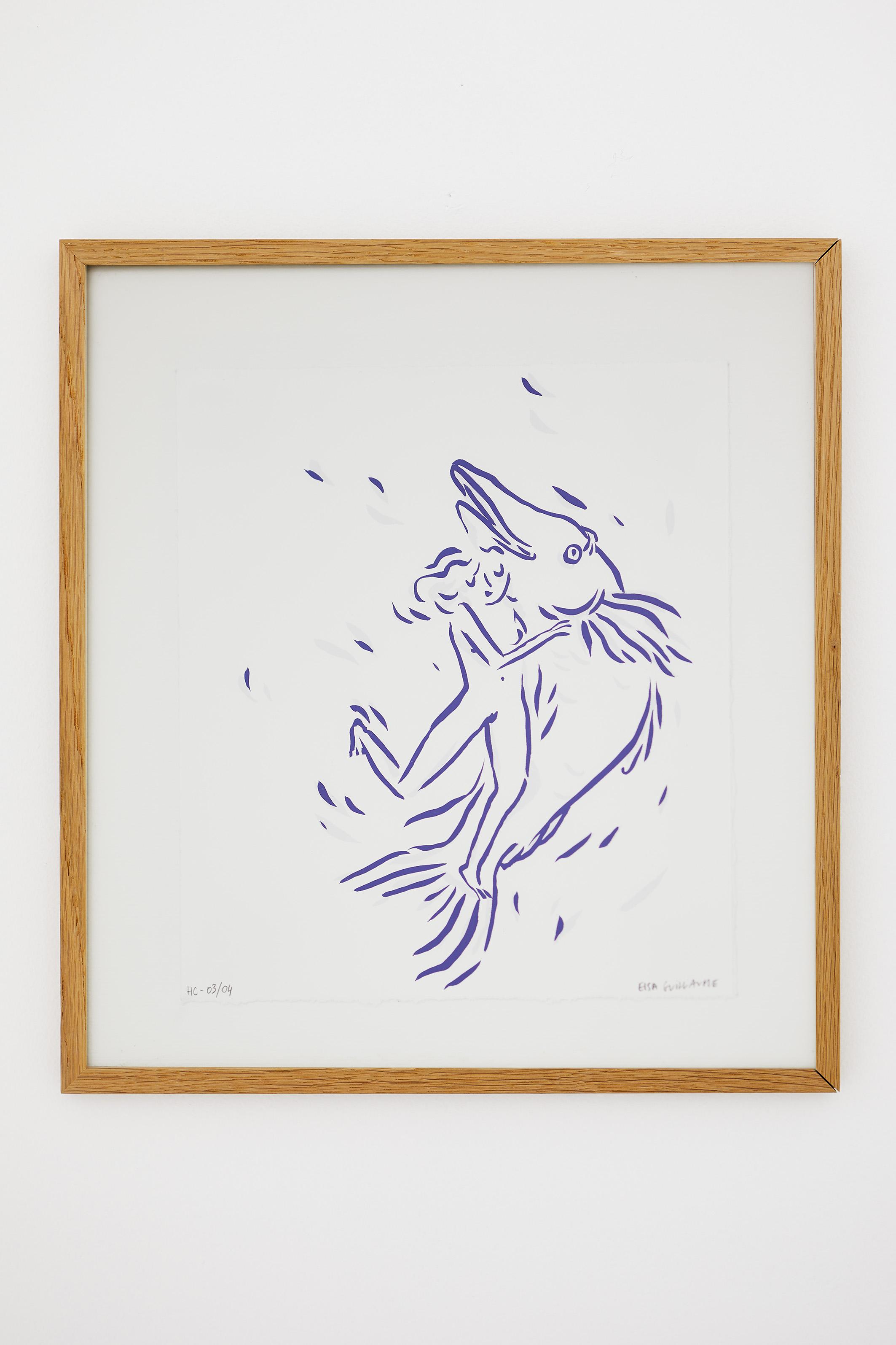 ELSA GUILLAUME, SERIGRAPHIE POLARFRONT, 2019, 28 x 21,5 cm, Sérigraphie deux couleurs signée et numérotée, Edition de 50 exemplaires. Accompagnée du carnet Polarfront – New York.