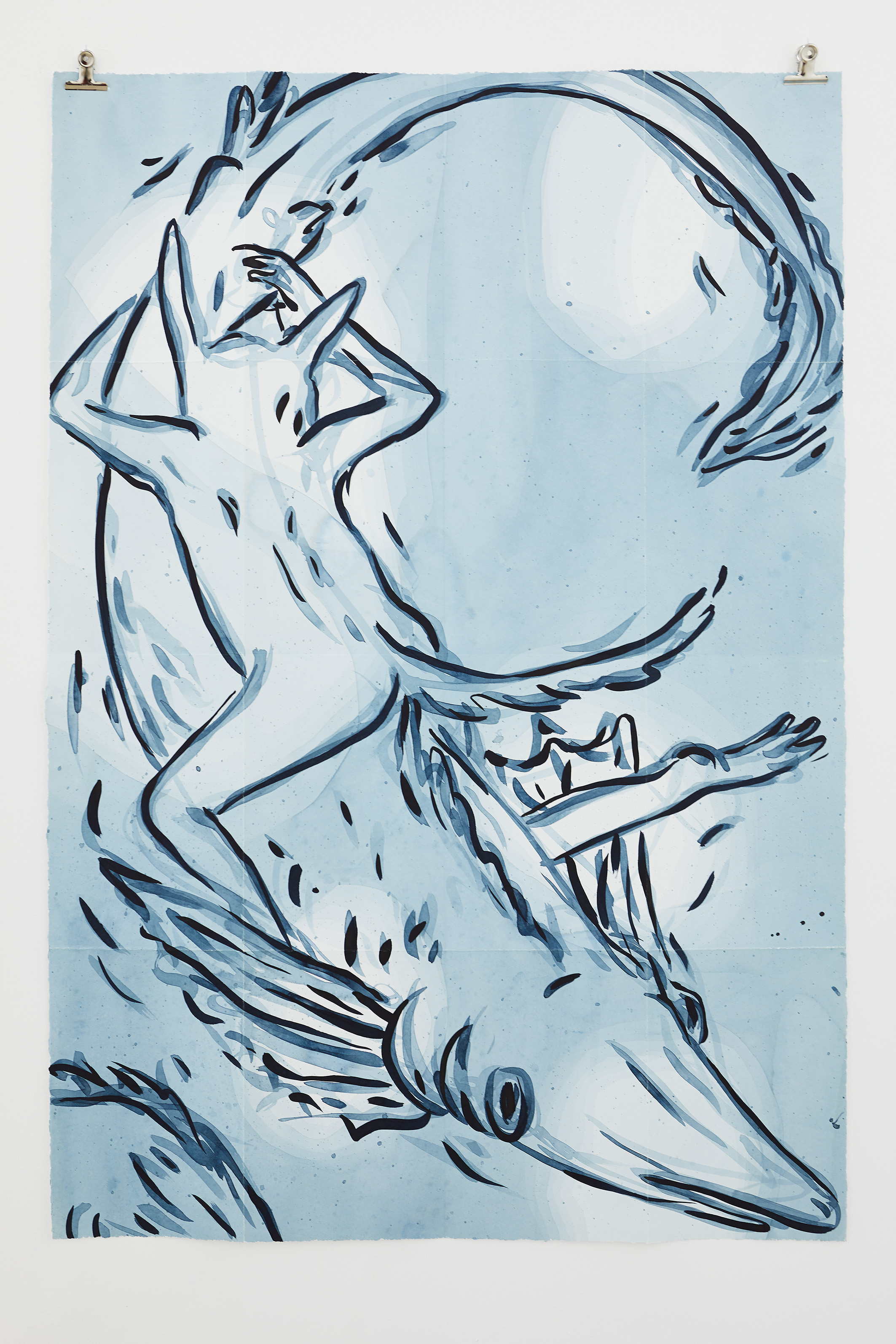 ELSA GUILLAUME, Topographie N°3, Encre super papier Arches satiné 300g, 71 x 105,5 cm