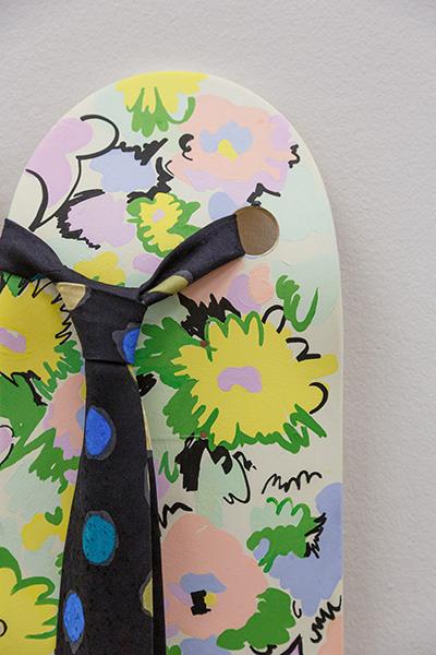 Gaillard & Claude Untitled 2019 Mixed media on on skateboard  Detail