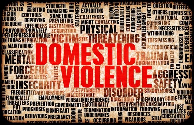 Domestic Violence Word Art Image (Unspoken Voices)