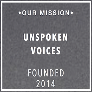 Unspoken Voices Badge