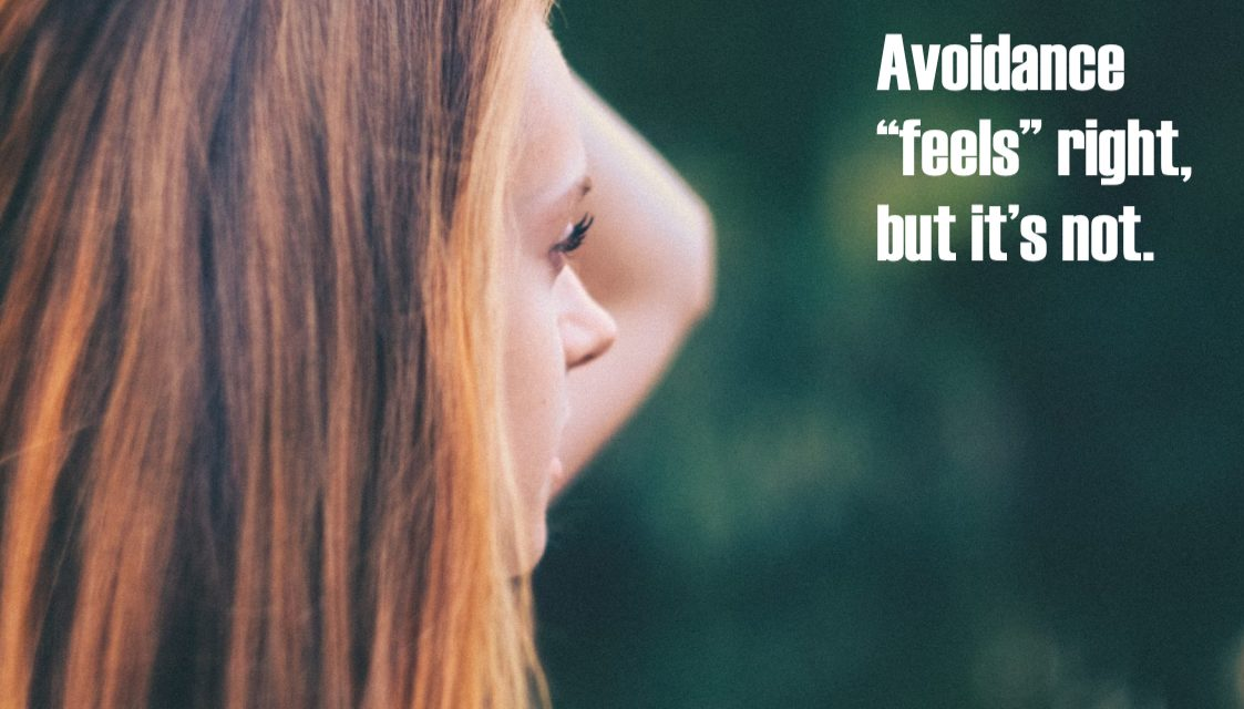 Avoidance from PTSD and confrontation. Young white woman pic. (cc0)