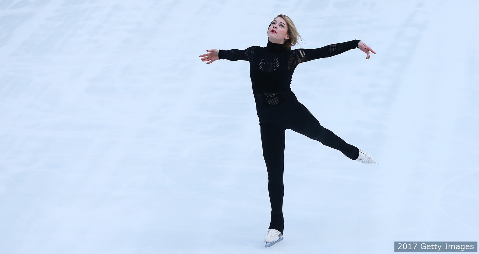Gracie Gold skates at NBC's TODAY Show on Feb. 8, 2017 in New York City. (Courtesy Getty Images)