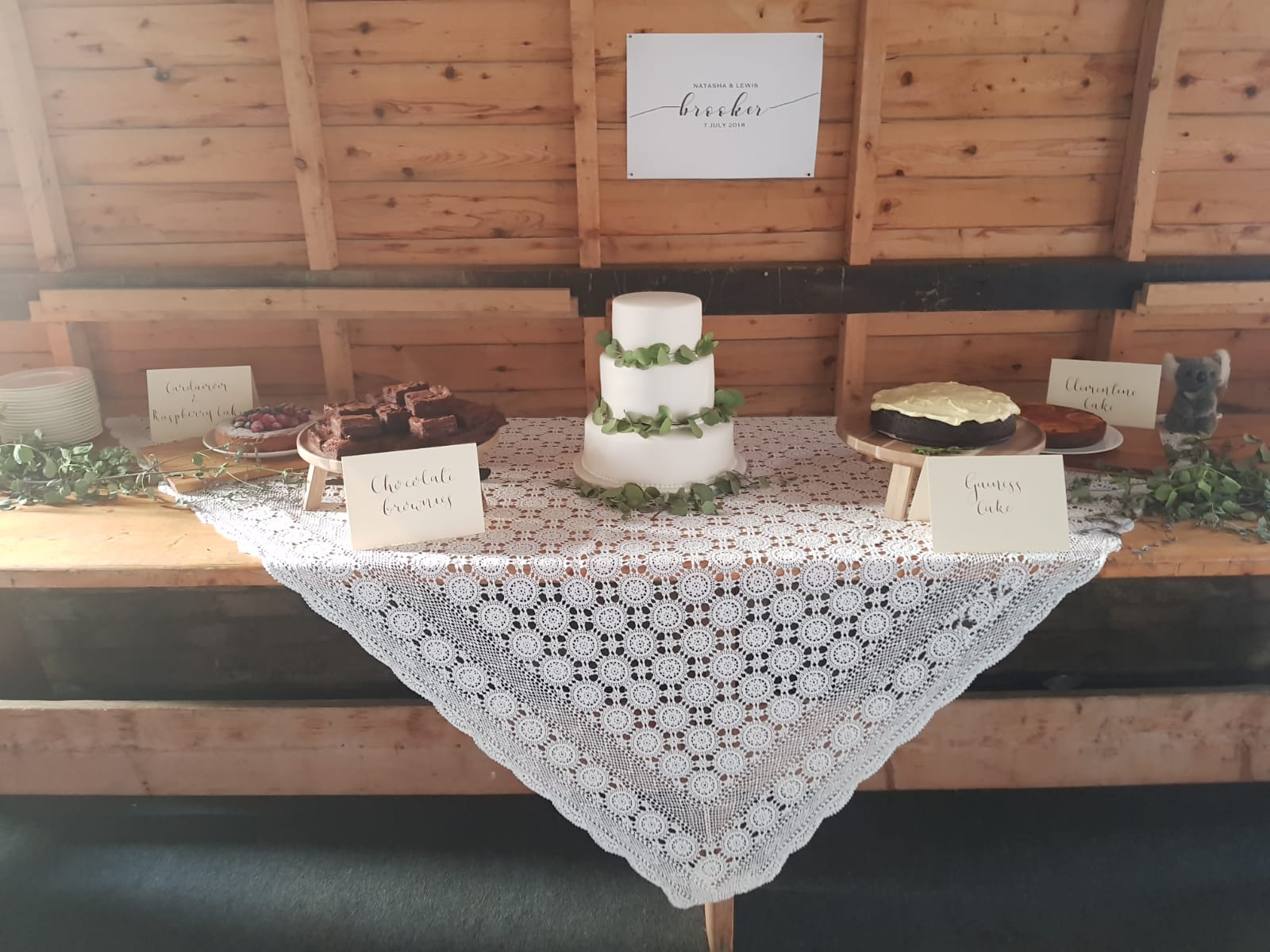 Signage for weddings - We loved doing these simple and rustic signs for a country chic wedding. Making the dessert table look extra enticing! Check out our wedding and events page for more photos...