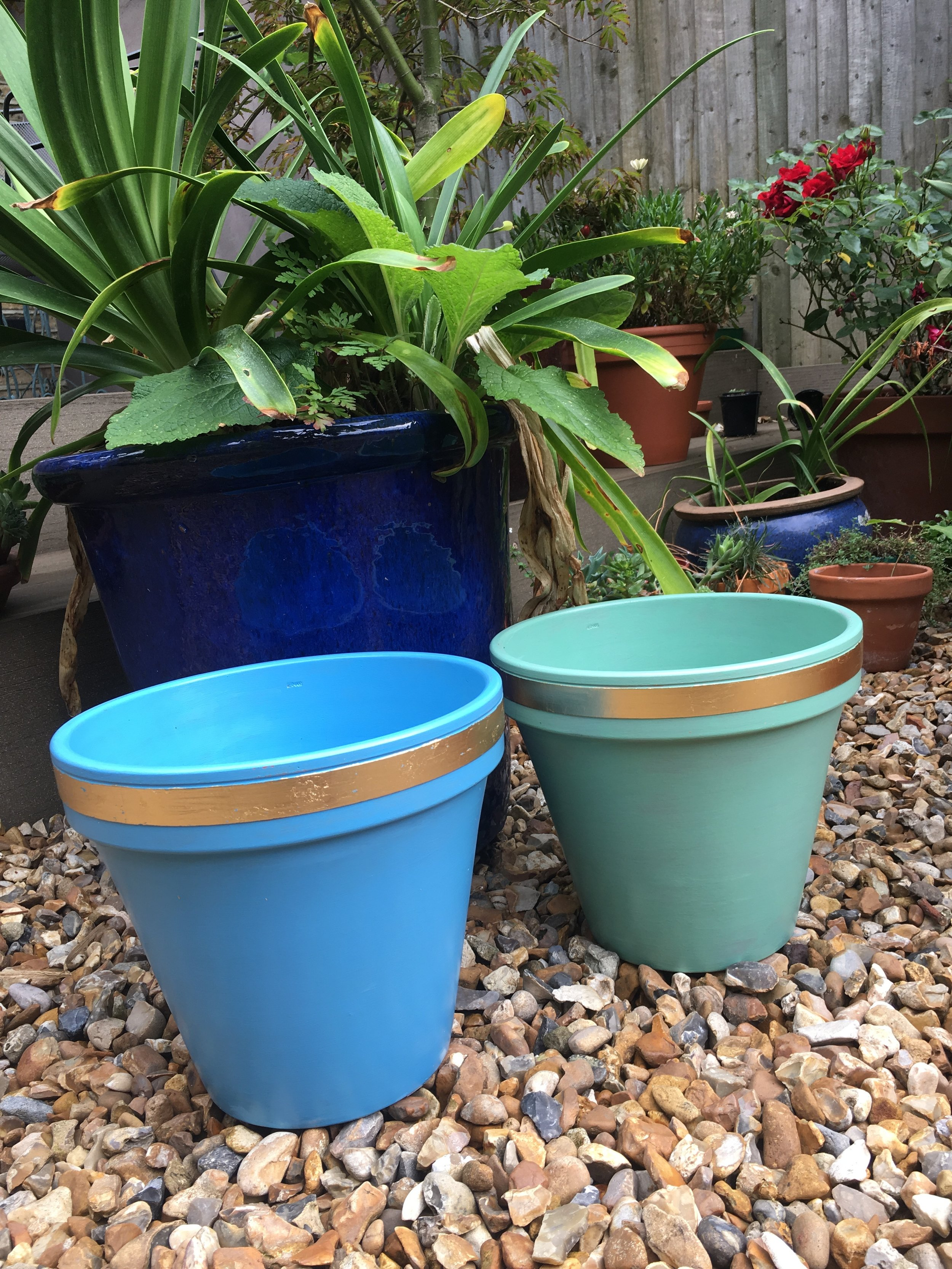 Extra Large Plant Pots - Simple, elegant and adding a pop of colour to any indoor or outdoor space. This making us think that maybe we should add these to our permament line!