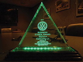 Rotary Business Ethics Award - Click for more...