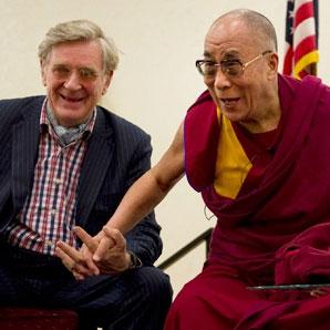 Professor Robert Thurman with HH Dalai Lama