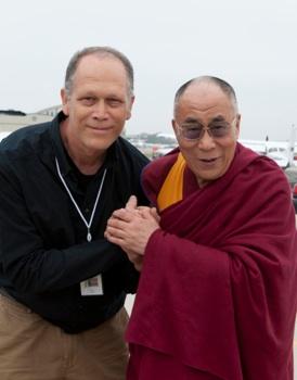 Photographer Don Farber with HH Dalai Lama