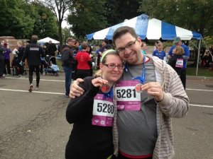 Mike and I after our first 5K