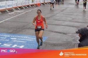 Twin Cities Marathon finish