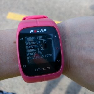Polar Watch with run description