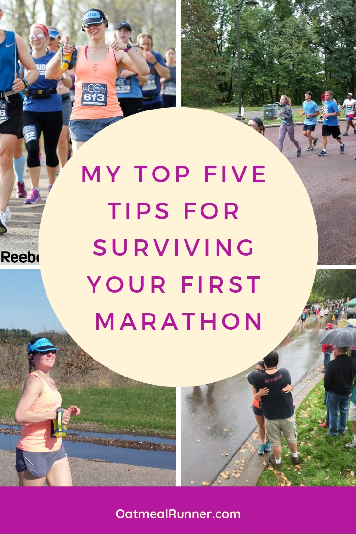_My Top Five Tips for Surviving Your First Marathon Pinterest.jpg