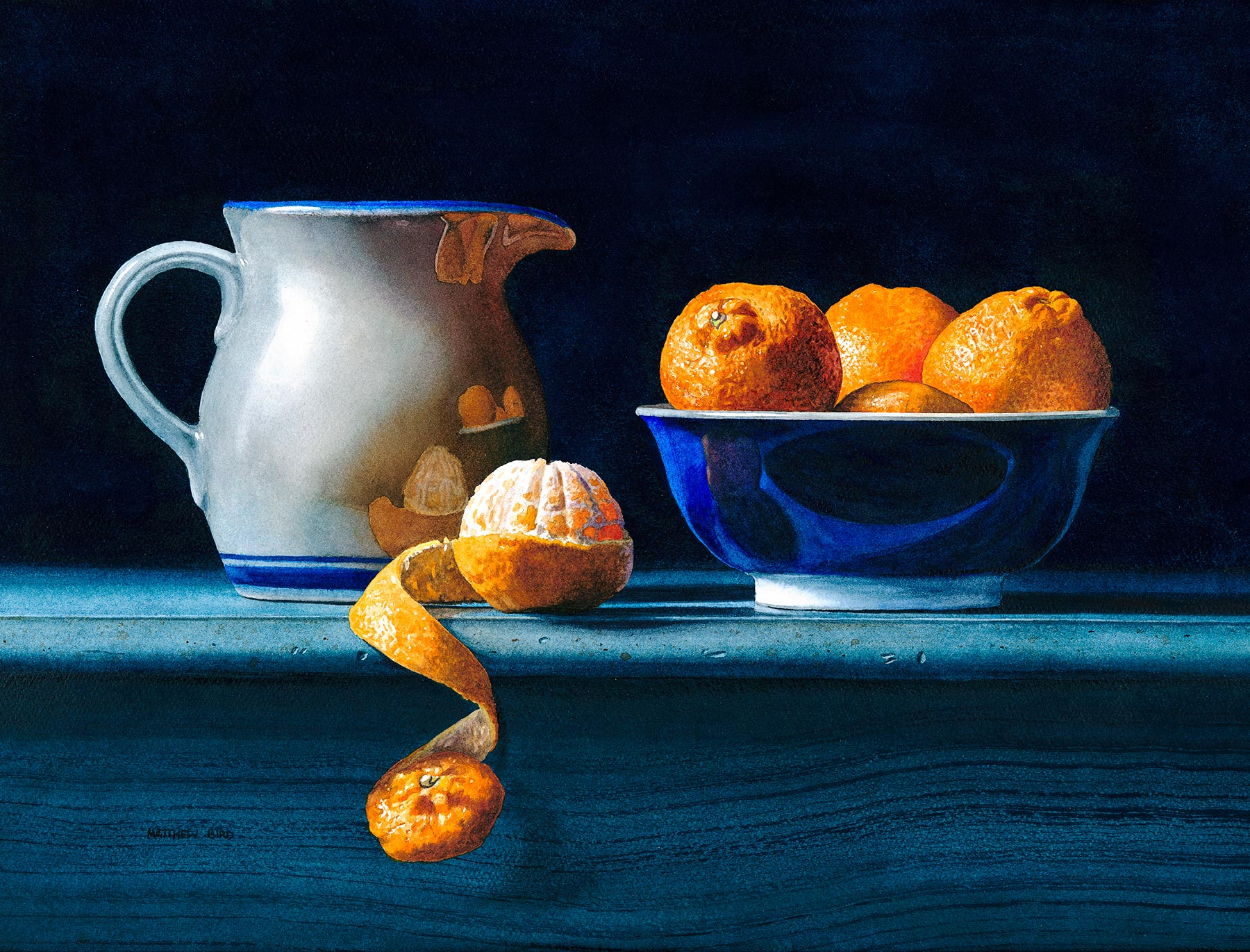 Clementines with Pitcher