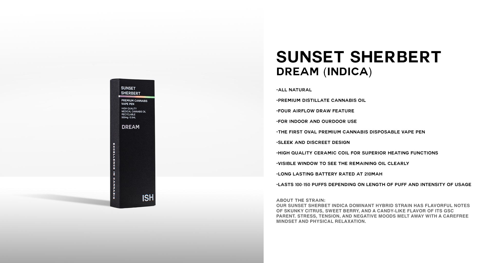 SUNSET SHERBERT (INDICA)