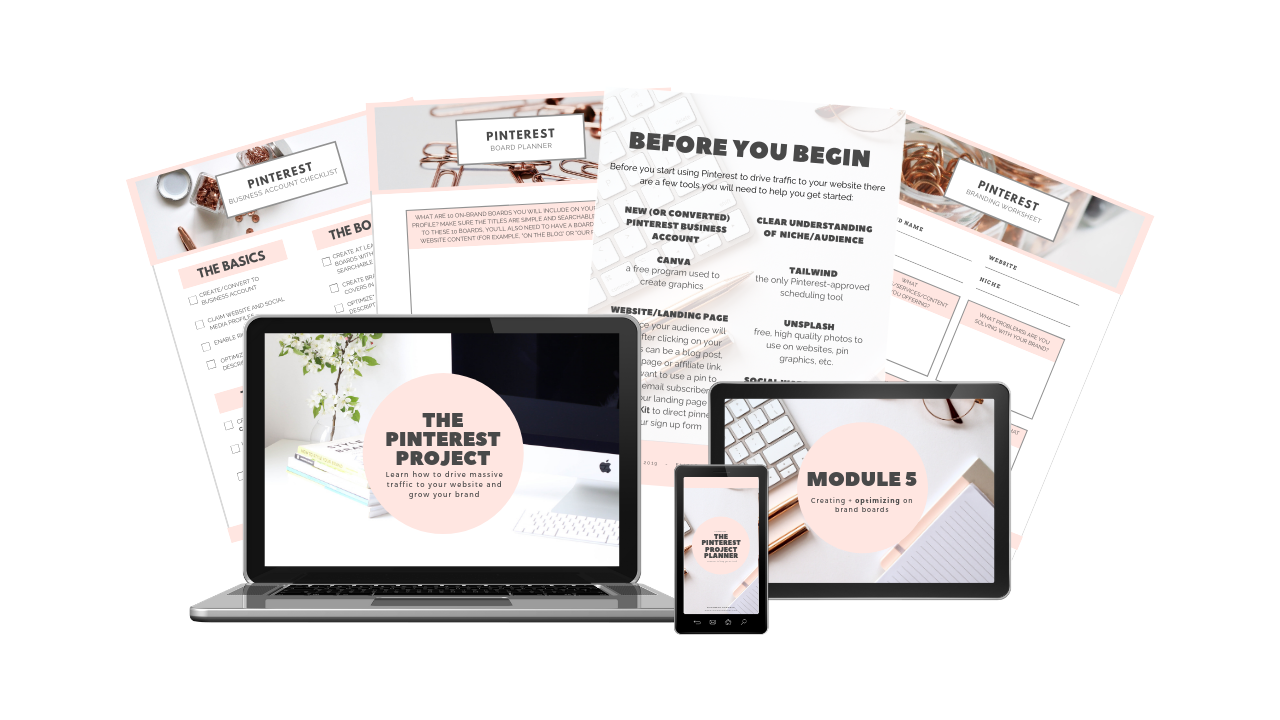 Learn how to grow your blog traffic or grow your website traffic with this Pinterest course