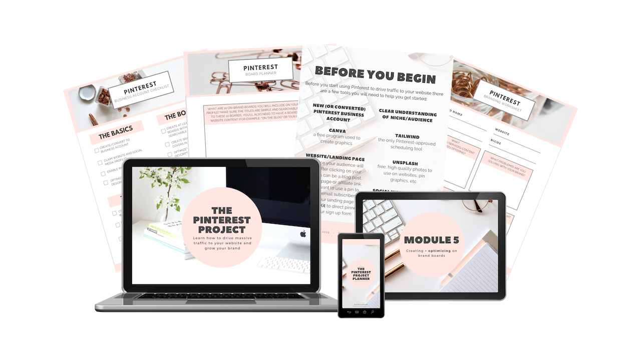 learn how to grow your blog traffic with the ultimate pinterest course