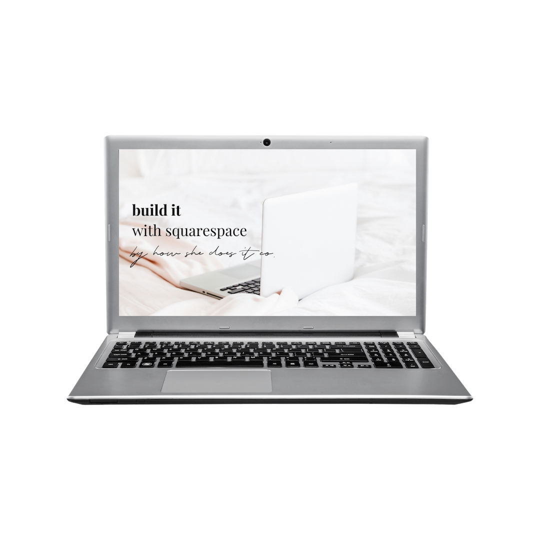 how to build a website with squarespace