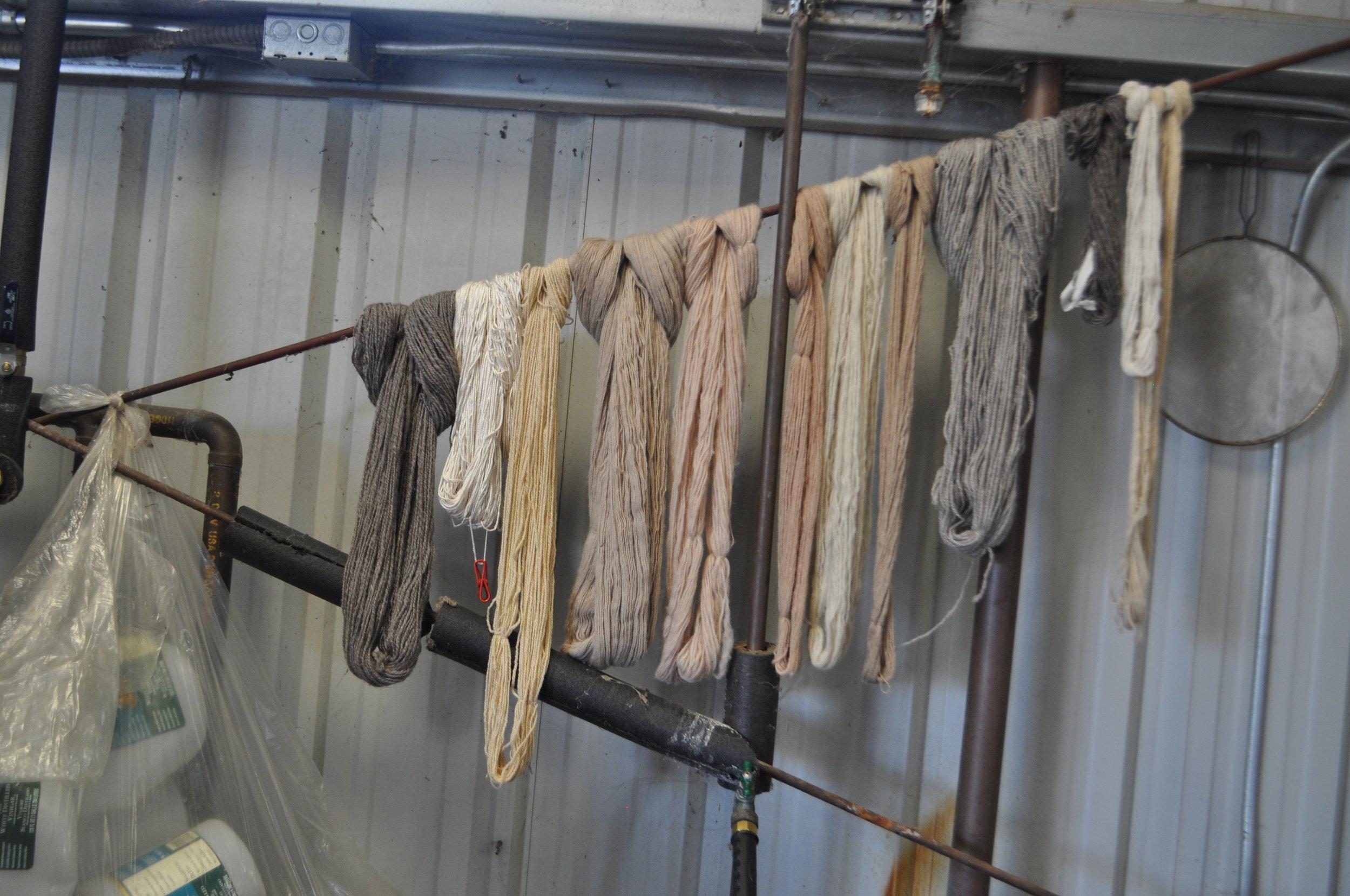 Farm yarns at Valley Oak Wool Mill