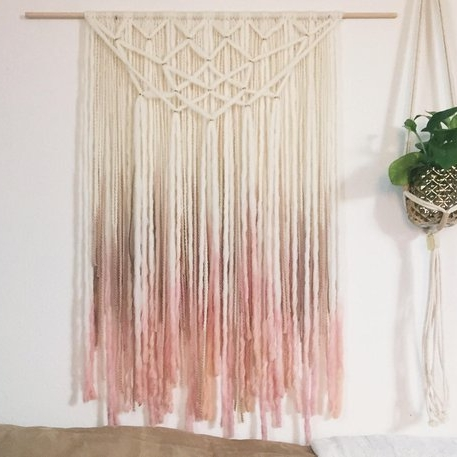 Large Blush and Gold Wall Tapestry - by TheDancingTapestry