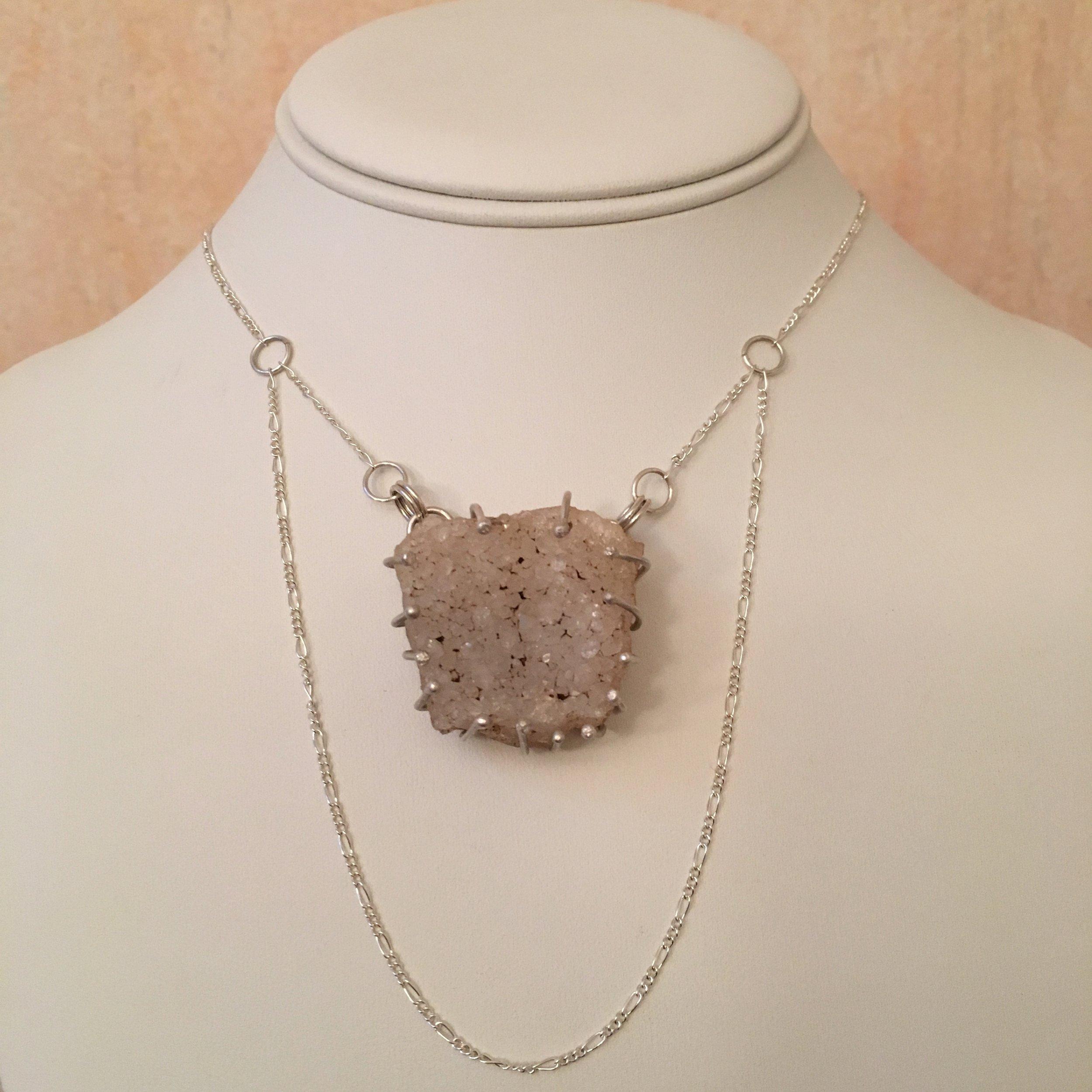 Custom Quartz Druzy Necklace