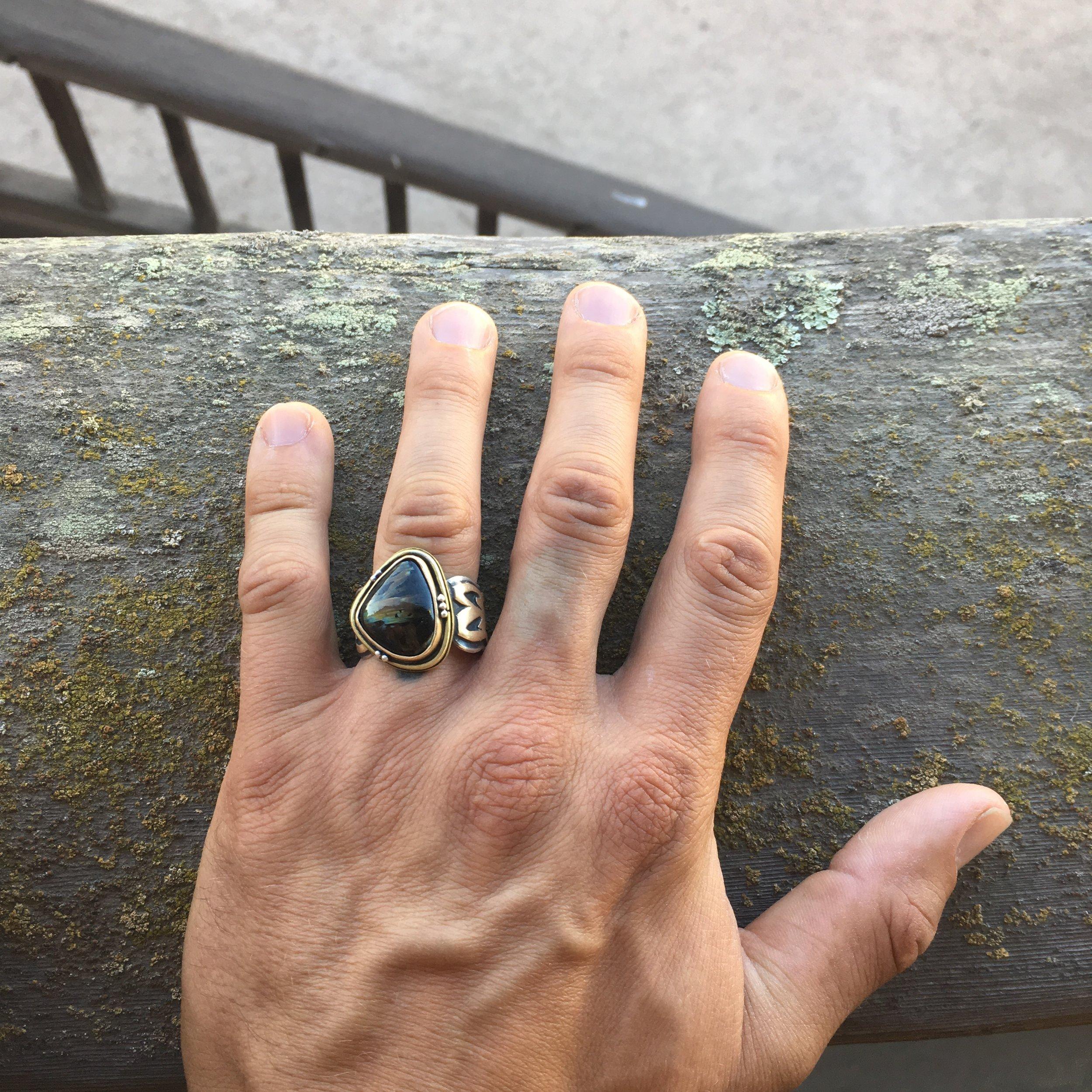 Mixed Metal Men's Ring