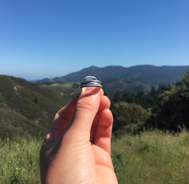 Mountain Range Ring with Lapis Lazuli