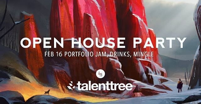 Talent tree spring open house party will be February 16th  If you are in Toronto come drop by to chat with our instructors, students and check out their artwork from last semester  Refreshments and light snacks will be provided :) Please RSVP via Facebook if you are interested in attending! Spots are limited, please reserve as soon as you can  Art by @frankhong.art #talenttree #torontoartschool #torontoartist #conceptart #environmentdesign #environmentart