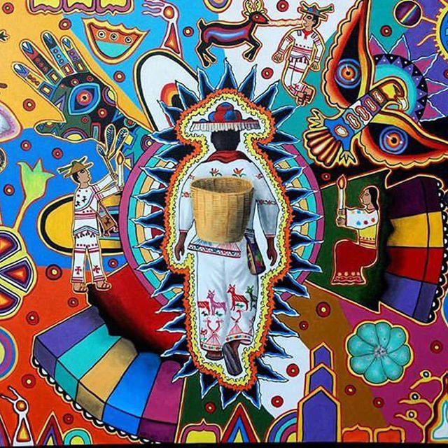 Encantadas con esta pieza de arte inspirada por la cultura Wixarika. Pieza realizada por @arturosanchezluna_arte #repost  #artenativo #artesanias #artemexicano #huichol #wixarica #mexico #lasfelix #wishlist
