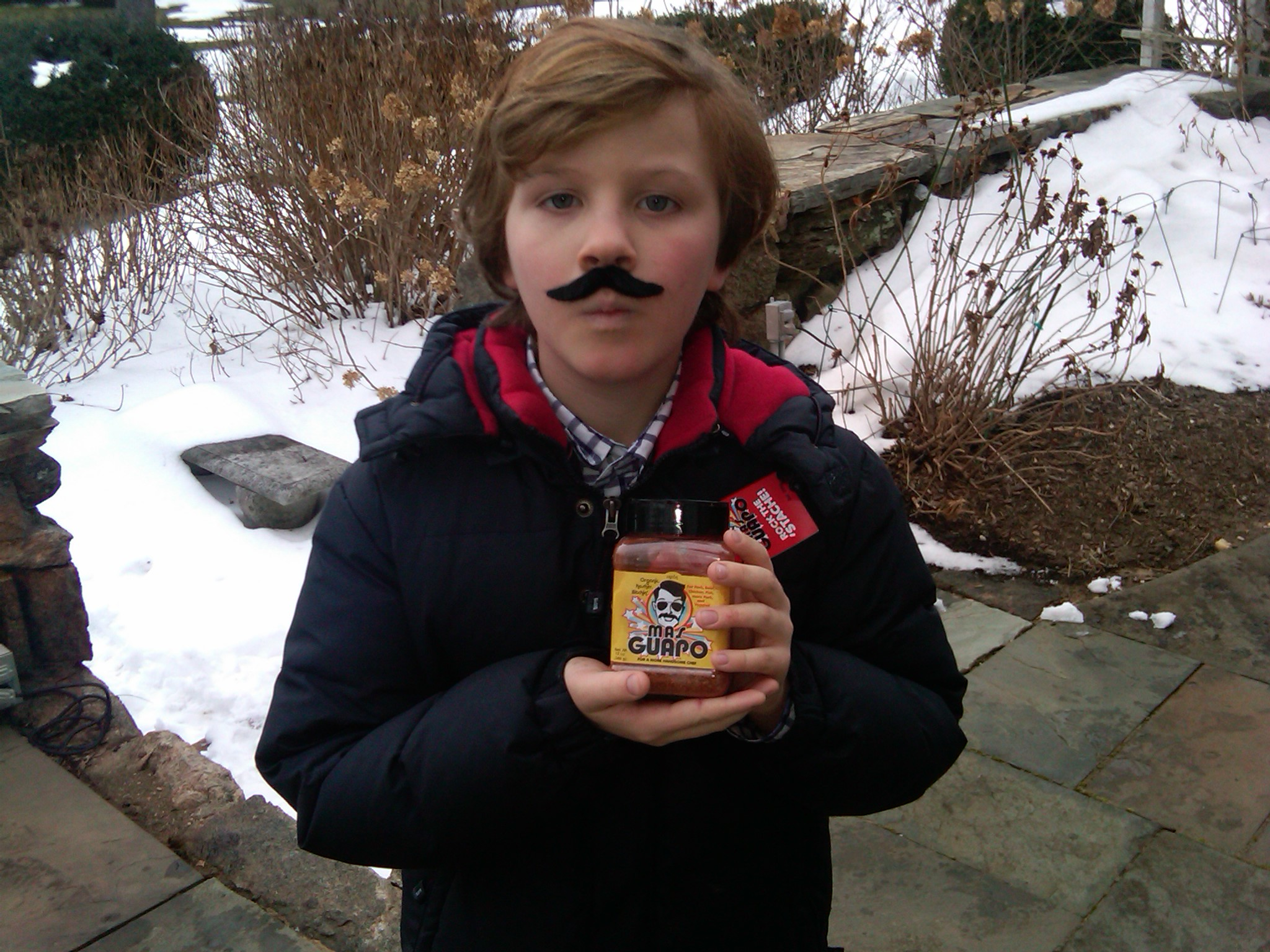 That's a pretty macho 11 year old. Be sure to wear that 'Stache to back to school.