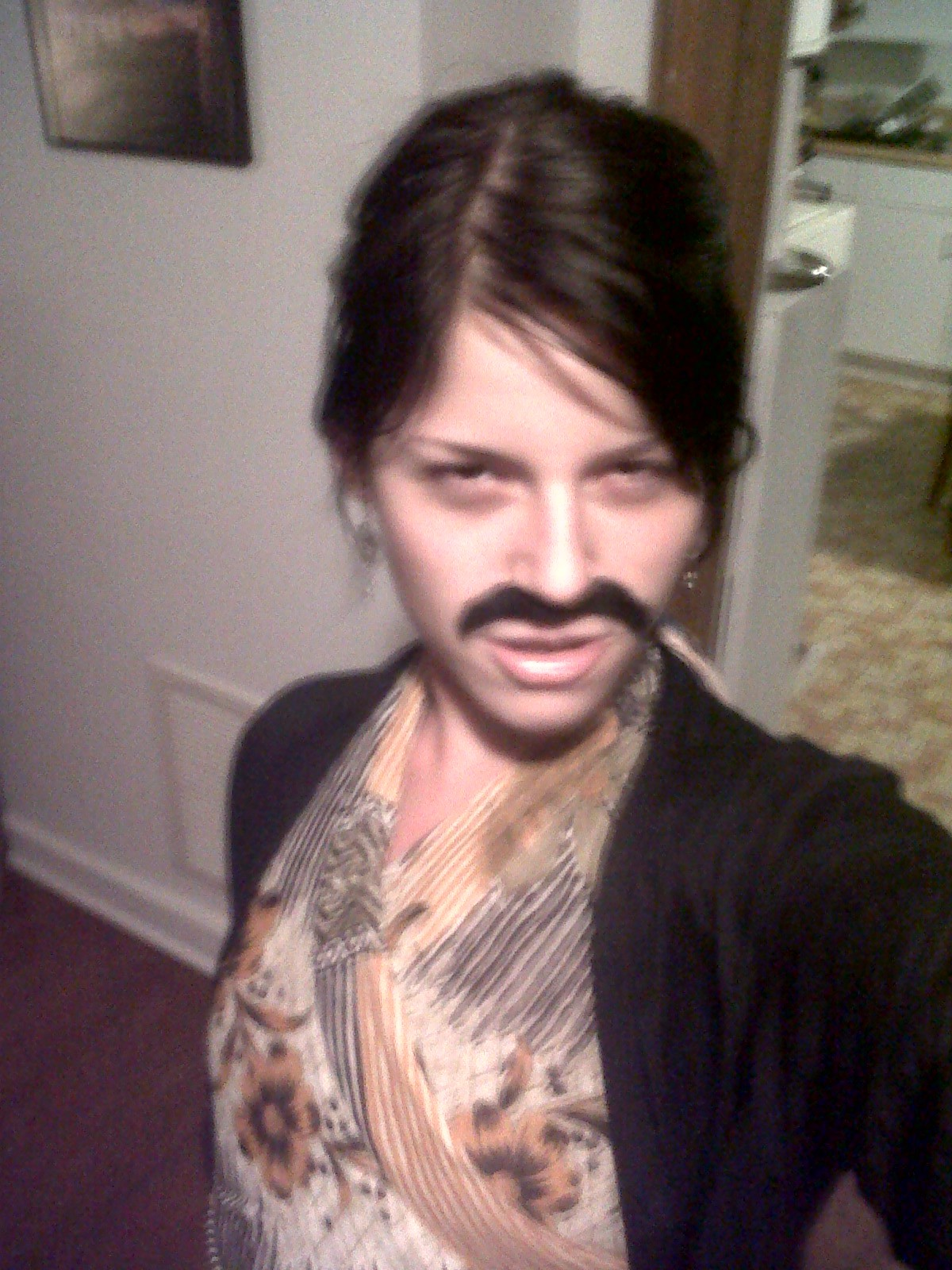"""This 'Stache is saying """"proceed with caution!"""""""
