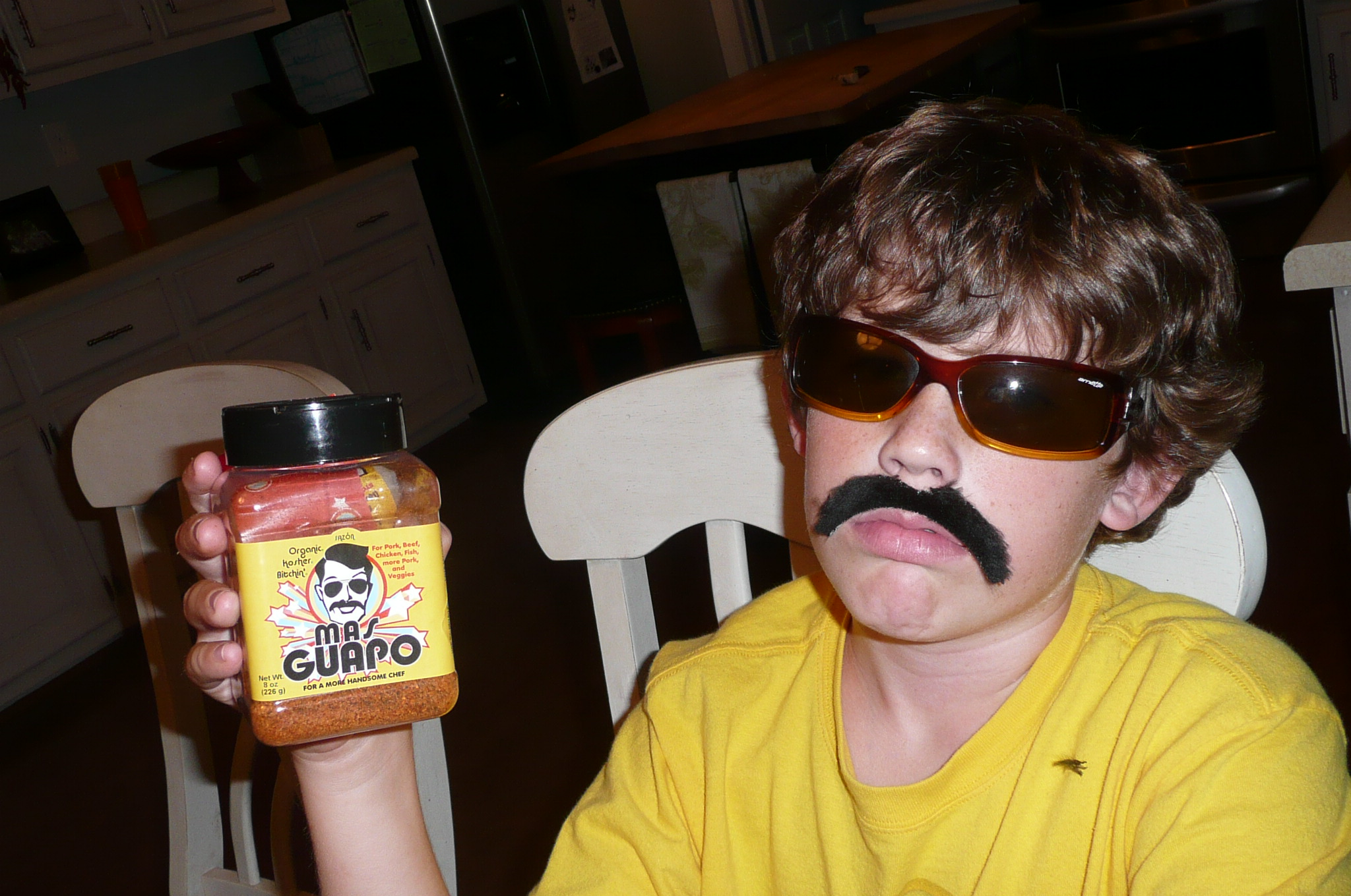 """Mas Guapo helped me get the lead in my school's production of """"Smokey and the Bandit II"""". Thanks, Mas Guapo!"""