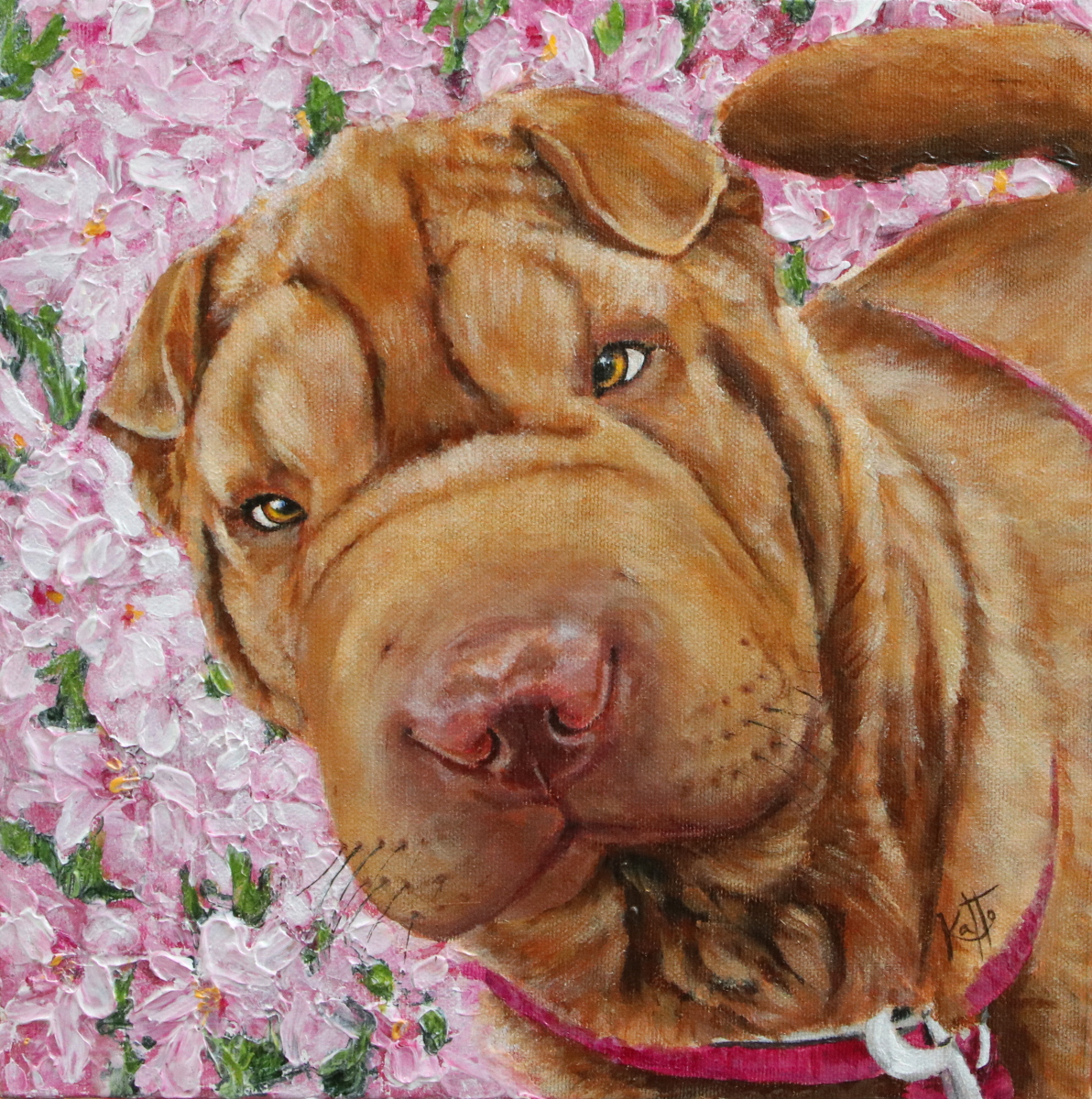 """Effie Trinket (the sharpei)"""
