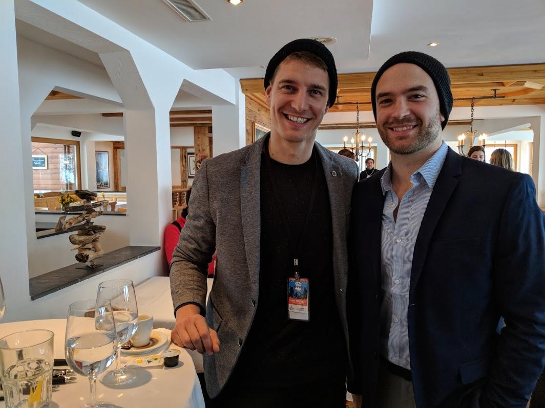 Julian Guderley & John Brancy during Davos WEF Summit 2018