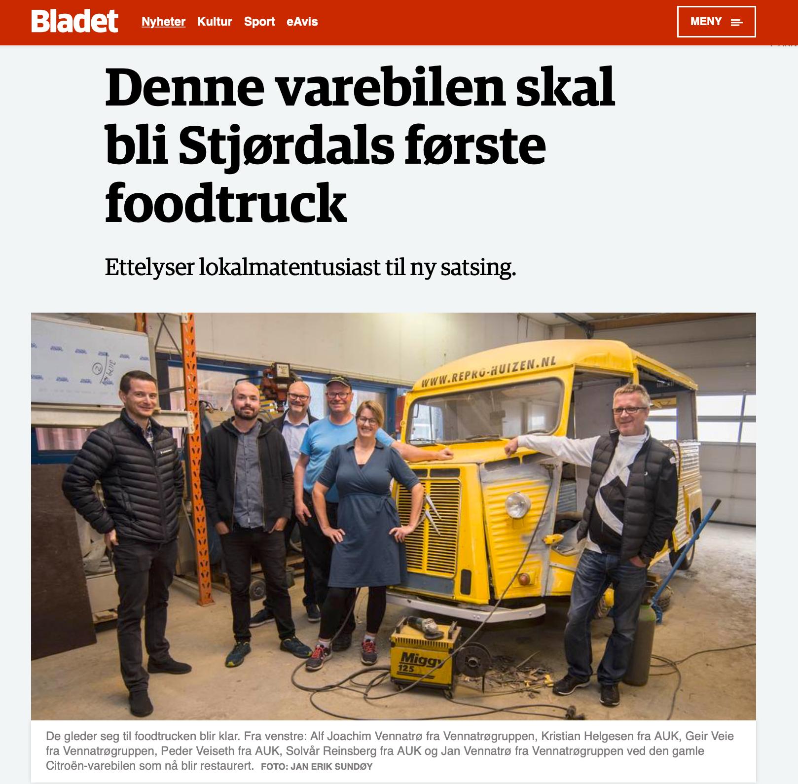 Artikkel i Bladet 03.09.2018