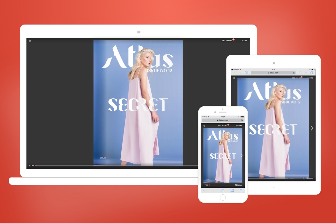Product shots from 2016 #newissuu launch, HTML5 redesign of the core Issuu reading experience