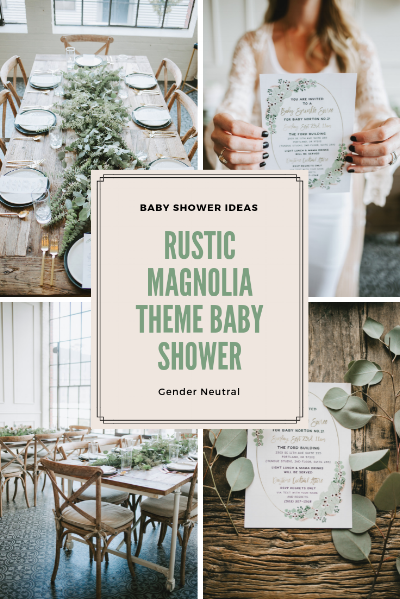 Baby Shower Ideas: Magnolia Baby Shower with Sleep and the City