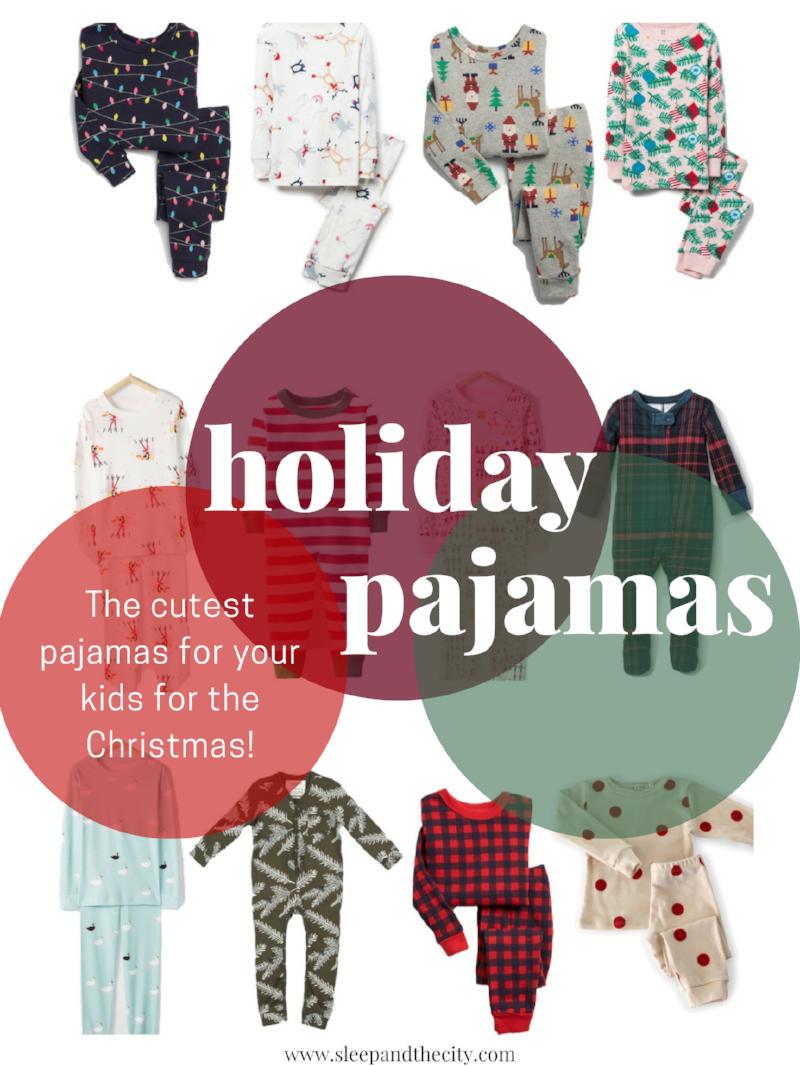 Holiday and Christmas Pajamas for Babies and Kids from Sleep & the City!