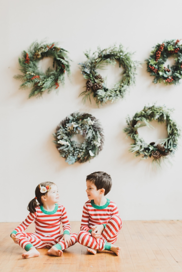 Holiday and Christmas pajamas for the family, kids babies and siblings with Sleep and the City!