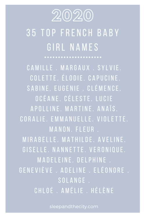 The Top 70 French Baby Names For 2020 Sleep And The City