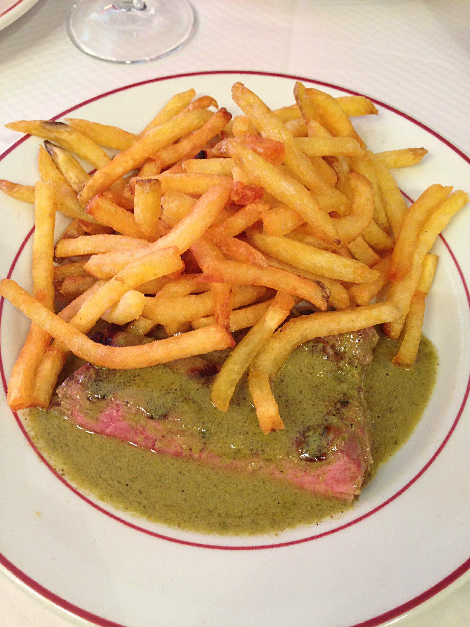 The famous steak and fries!