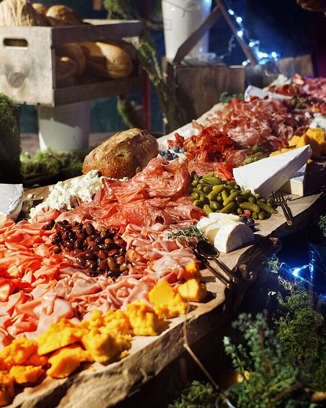 HUGE charcuterie board in VIP/Media lounge by Drew's Catering & Events